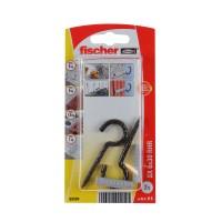 Diblu universal din nylon, cu carlig ochi deschis, negru, Fischer SX, 6 x 30 mm, set 2 bucati