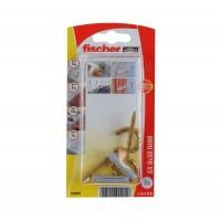 Diblu universal din nylon, cu carlig ochi deschis, auriu, Fischer SX, 6 x 30 mm, set 2 bucati