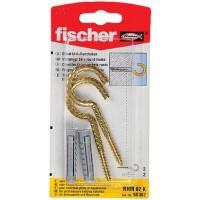 Diblu universal din nylon, cu surub cu carlig ochi deschis, Fischer RHM, 8 x 40 mm, 2 bucati