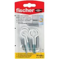 Diblu universal din nylon, cu surub cu carlig ochi deschis, Fischer, 6 x 30 mm, 4 bucati