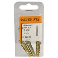 Diblu metalic cu gheare pentru BCA, 6 x 32 mm, 4 bucati