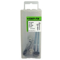 Set montaj vas WC, Easy-Fix DPL0690, argintiu