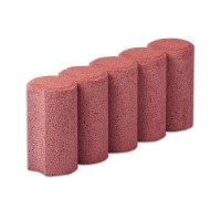 Bordura cilindrica Elis Pavaje rosu 500 x 100 x 200 mm