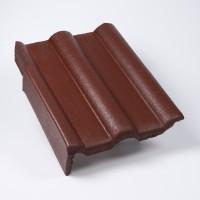Tigla laterala stanga Bramac Alpina Clasic, brun roscat, suprafata Protector, 330 x 420 mm
