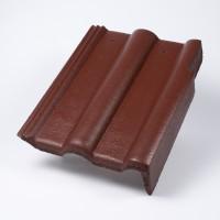 Tigla laterala dreapta Bramac Alpina Clasic, brun roscat, suprafata Protector, 330 x 420 mm