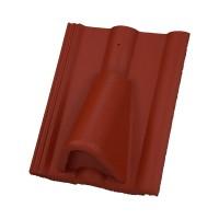 Tigla aerisire Alpina Clasic brun roscat suprafata Protector, 330 x 420 mm