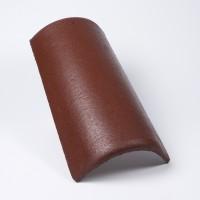 Tigla de coama Bramac, suprafata Protector, brun roscat inchis
