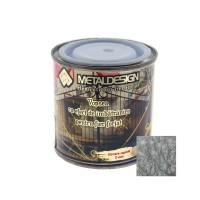 Vopsea patinata pentru metal, interior / exterior, argintie, 0.25 L