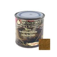 Vopsea patinata pentru metal, interior / exterior, aurie, 0.25 L