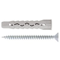 Diblu universal din nylon, cu surub cu cap inecat, Friulsider XP, 6 x 33 mm, 15 bucati
