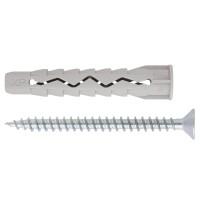 Diblu universal din nylon, cu surub, Friulsider, 6 x 45 mm, 15 bucati
