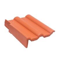 Tigla laterala stanga Bramac Alpina Clasic, rosu caramiziu, suprafata Protector, 330 x 420 mm