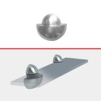 Suport reglabil pentru rafturi, Ball, metal, alb, 5 - 15 mm