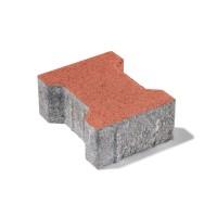 Pavaj rezidential autoblocant Semmelrock, dublu T, rosu, 200 x 165 x 60 mm