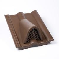 Tigla aerisire Alpina Clasic maro suprafata Protector, 330 x 420 mm