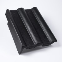 Tigla laterala stanga Bramac Alpina Clasic, antracit, suprafata Protector, 330 x 420 mm