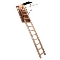 Scara mansarda CNC, lemn + PAL, retractabila, 60 x 110 x 280 cm