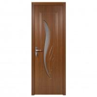 Usa de interior din lemn cu geam Super Door F03-68-S stanga / dreapta stejar inchis 203 x 68 cm
