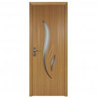 Usa de interior din lemn cu geam Super Door F03-78-Q stanga / dreapta stejar deschis 203 x 78 cm