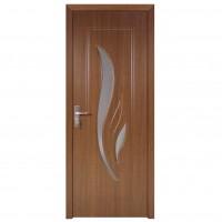 Usa de interior din lemn cu geam Super Door F03-78-S stanga / dreapta stejar inchis 203 x 78 cm