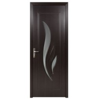 Usa de interior din lemn cu geam Super Door F03-78-T stanga / dreapta wenge 203 x 78 cm