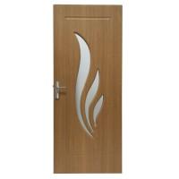 Usa de interior din lemn cu geam Super Door F03-88-Q stanga / dreapta stejar deschis 203 x 88 cm