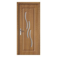 Usa de interior din lemn cu geam Super Door F02-68-Q stanga / dreapta stejar deschis 203 x 68 cm