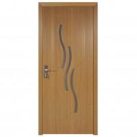 Usa de interior din lemn cu geam Super Door F02-78-Q stanga / dreapta stejar deschis 203 x 78 cm