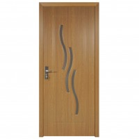 Usa de interior din lemn cu geam Super Door F02-88-Q stanga / dreapta stejar deschis 203 x 88 cm