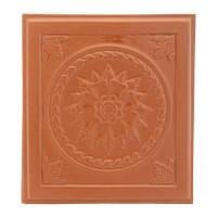 Placa medalion teracota Floral alun