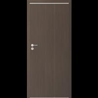 Usa culisanta pliabila Alfa, plina, stanga, wenge, 98 x 206 cm + toc