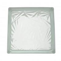 Caramida sticla verde deschis, Ice Flower, interior / exterior, 19 x 19 x 8 cm