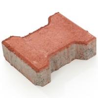 Pavaj rezidential Symmetrica, dublu T, rosu, 200 x 165 x 60 mm