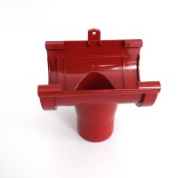 Colector central, PVC, rosu, D 125 mm