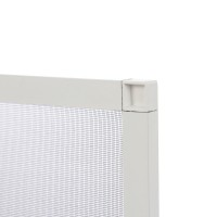 Plasa protectie insecte / tantari, Far Est, pentru ferestre, aluminiu, alb, 83 x 108.8 cm