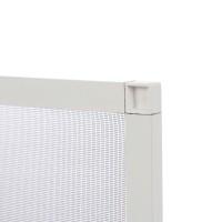 Plasa protectie insecte / tantari, Far Est, pentru ferestre, aluminiu, alb, 57.9 x 108.8 cm