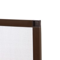 Plasa protectie insecte / tantari, Far Est, pentru ferestre, aluminiu, maro, 63.8 x 108.8 cm