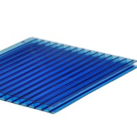 Policarbonat celular cu 2 pereti, albastru, 6000 x 2100 x 4 mm