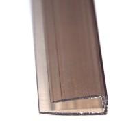 Profil policarbonat U, bronz, 4 x 2100 mm