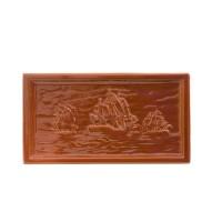 Placa medalion teracota Corabii maro