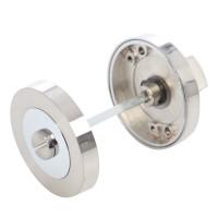 Rozeta rotunda filetata pentru usa lemn ESC01 Gato WC RR55SN/CP, satin nichel + crom polisat, D = 55 mm