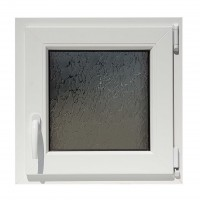 Fereastra PVC termopan Trocal, 5 camere, alb, 56 x 56 cm, oscilobatanta, dreapta