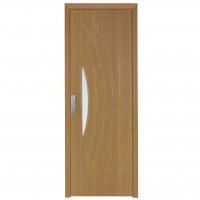 Usa de interior din lemn cu geam Super Door F11-68-Q stanga / dreapta stejar deschis 203 x 68 cm