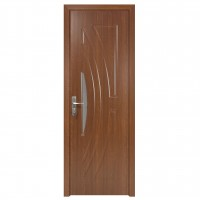 Usa de interior din lemn cu geam Super Door F11-68-S stanga / dreapta stejar inchis 203 x 68 cm