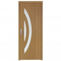 Usa de interior din lemn cu geam Super Door F11-78-Q  stanga / dreapta stejar deschis 203 x 78 cm