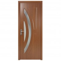Usa de interior din lemn cu geam Super Door F11-78-S stanga / dreapta stejar inchis 203 x 78 cm