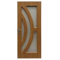 Usa de interior din lemn cu geam Super Door F11-88-Q stanga / dreapta stejar deschis 203 x 88 cm