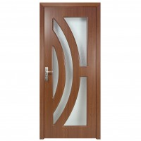 Usa de interior din lemn cu geam Super Door F11-88-S stanga / dreapta stejar inchis 203 x 88 cm