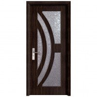 Usa de interior din lemn cu geam Super Door F11-88-T stanga / dreapta wenge 203 x 88 cm