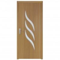 Usa de interior din lemn cu geam Super Door F12-78-Q stanga / dreapta stejar deschis 203 x 78 cm